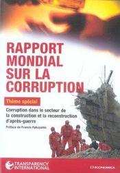 Rapport Mondial Sur La Corruption 2005 - Intérieur - Format classique