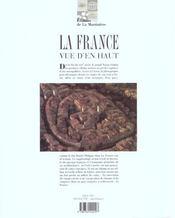 La France Vue D'En Haut - 4ème de couverture - Format classique