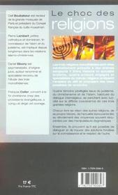 Le choc des religions juifs, chretiens, mulsulmans. la coexistence est-elle possible? - 4ème de couverture - Format classique