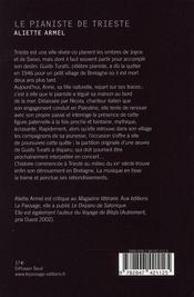 Le pianiste de Trieste - 4ème de couverture - Format classique