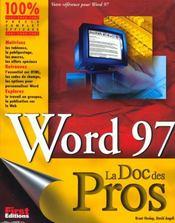 Word 97 Pour Les Pros - Intérieur - Format classique