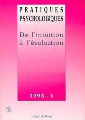 Pratiques Psycho.95-1 Intuit.Evaluat - Couverture - Format classique
