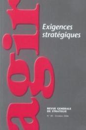 Agir, N° 28: Réflexions stratégiques - Couverture - Format classique
