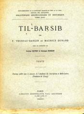 Til-Barsib. - Couverture - Format classique