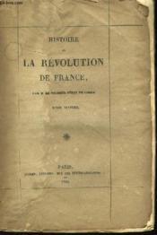 Histoire de la Révolution de France. TOME VI - Couverture - Format classique
