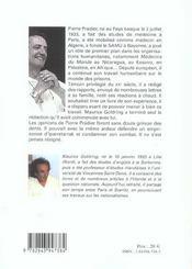 Pierre Pradier, Un Homme Sans Frontieres - 4ème de couverture - Format classique