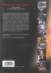 Histoire(S) De Films Francais ; Realisateurs, Acteurs, Scenaristes - 4ème de couverture - Format classique