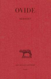 Héroïdes - Couverture - Format classique