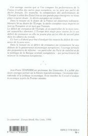 Relancer La Croissance De L'Europe - 4ème de couverture - Format classique