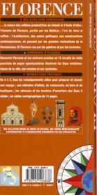 Florence(Le Dome, Eglise Santa Maria Novella, Galerie Des Offic - 4ème de couverture - Format classique