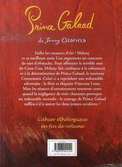 Le Ranch De La Pleine Lune T.13 ; Prince Galaad - 4ème de couverture - Format classique