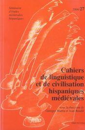 Cahiers de linguistique et de civilisation hispaniques medievales n.27 - Intérieur - Format classique