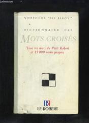 Dict des mots croises - Couverture - Format classique