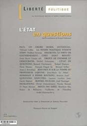 REVUE LIBERTE POLITIQUE T.6 ; l'Etat en questions - Couverture - Format classique