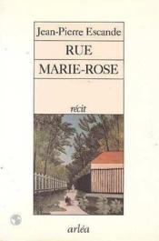 Rue Marie-Rose - Couverture - Format classique