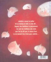 Les fantomes de juliette - 4ème de couverture - Format classique