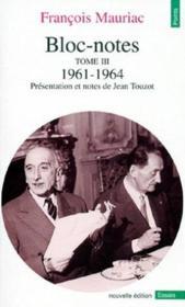 Bloc-notes t.3 ; 1961-1964 - Couverture - Format classique