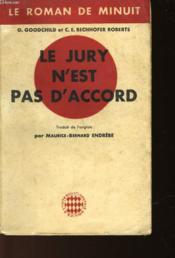 Le Jury N'Est Pas D'Accord - Couverture - Format classique