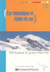 Cas thematiques et etudes de cas bts pme pmi - Couverture - Format classique
