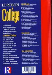 Robert college - 4ème de couverture - Format classique