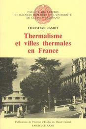 Thermalisme Et Villes Thermales En France - Intérieur - Format classique