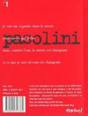 Pasolini - 4ème de couverture - Format classique