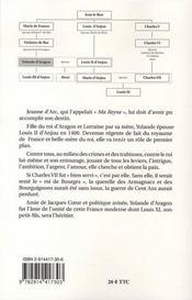 Yolande d'aragon, 1379-1442 ou l'unité de la france - 4ème de couverture - Format classique