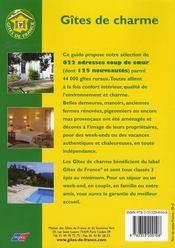 Gites De Charme (Edition 2008) - 4ème de couverture - Format classique