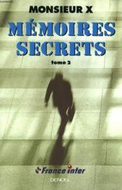 Memoires Secrets T2 - Couverture - Format classique