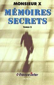 Memoires Secrets T2 - Intérieur - Format classique