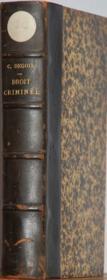 Traite Elementaire De Droit Criminel A L'Usage Des Etudiants En Droit De Deuxieme Annee - Couverture - Format classique