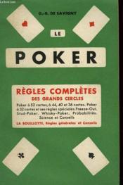 Le Poker. Regles Completes Des Grands Cercles. - Couverture - Format classique