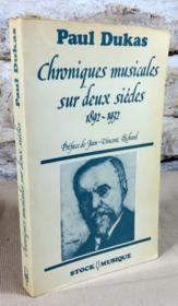 Chroniques musicales sur deux siècles 1892-1932. - Couverture - Format classique