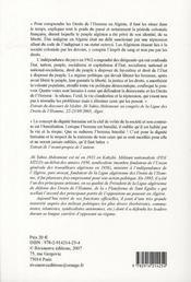 Algérie ; combats pour la dignité - 4ème de couverture - Format classique
