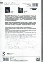 Osez le chinois : initiation à la langue chinoise : cahier d'exercices et corrigés inclus - 4ème de couverture - Format classique