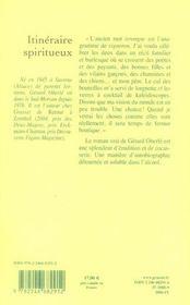 Itinéraire spiritueux - 4ème de couverture - Format classique
