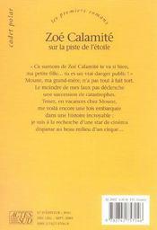 Zoe calamite sur la piste de l'etoile - 4ème de couverture - Format classique