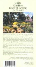 Parcs et jardins en france - 4ème de couverture - Format classique
