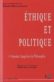 Éthique et politique ; 5e semaine congolaise de philosophie - Couverture - Format classique