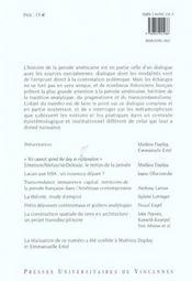Revue Theorie Litterature Enseignement T.20 ; Nouveaux Passages Transatlantiques - 4ème de couverture - Format classique