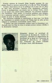 Senegal L'Etat Abdou Diouf Ou Le Temps Des ... - 4ème de couverture - Format classique