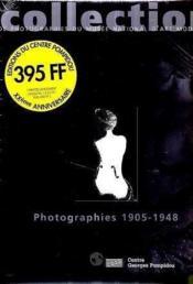 Collection de photographies du musee national d'art moderne 1905-1948 - Couverture - Format classique