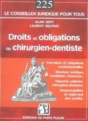 Droits et obligations du chirurgien-dentiste - Couverture - Format classique