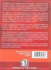 Droits et obligations du chirurgien-dentiste - 4ème de couverture - Format classique