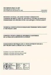 Consultation technique sur le developpement durable des peches dans la region de la copaco n.503 - Couverture - Format classique