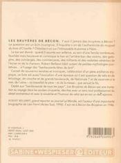 Les bruyères de bécon - 4ème de couverture - Format classique