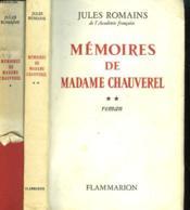 Memoires De Madame Chauverel. En 2 Tomes. - Couverture - Format classique