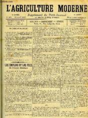L'AGRICULTURE MODERNE N° 224 - G. Arachequesne : Les emplois et les prix de Valcool dénaturé. - Couverture - Format classique