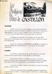 Les Prestigieux Vins De Castillon - Couverture - Format classique