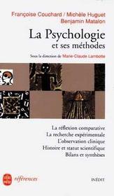 La Psychologie Et Ses Methodes-Inedit - Intérieur - Format classique